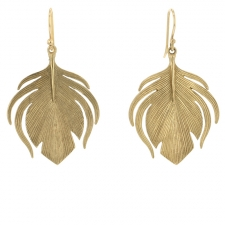 Small 10k Peacock Earrings Image