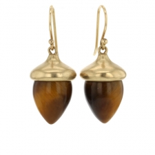 Tigers Eye Acorn Earrings Image