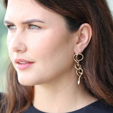 Serpent 14k Gold Chandelier Earrings Image