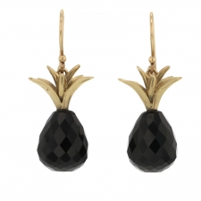 Black Onyx Pineapple Earrings Image