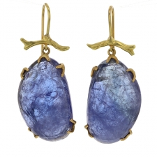 Tanzanite 18k Gold Branch Earrings Image