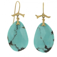 Turquoise Branch Earrings Image