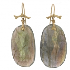 Large Labradorite Branch Earrings Image