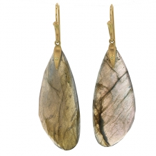 Labradorite Moth Wing Earrings Image