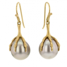 Tahitian Pearl Claw Earrings Image