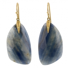 Sapphire Slice Wing Earrings Image