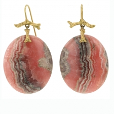 Rhodochrosite Slice Earrings Image
