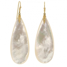 Mother of Pearl XL Teardrop Earrings Image