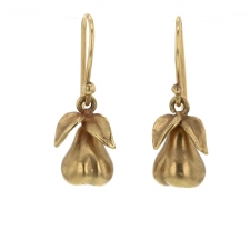 14k Gold Pear Earrings Image