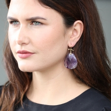Large Amethyst Slice Earrings Image