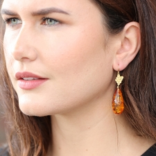 Baltic Amber Honey Drop Earrings Image