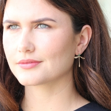 Emerald Jeweled Damselfly Earrings Image