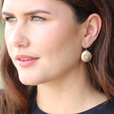 Small 10k Gold Dandelion with Pearl Earrings Image