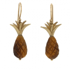 Tigers Eye Pineapple Earrings Image