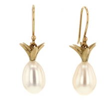 Pearl Pineapple Earrings Image
