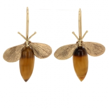 Tigers Eye Bee Earrings Image