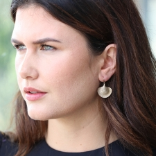 Medium 10k Gold Ginkgo Earrings Image