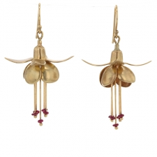 Ruby Fuchsia 14k Gold Earrings Image