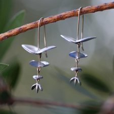 Silver Eucalyptus Earrings Image