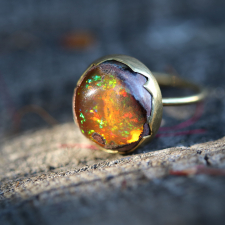 Round Matrix Opal Egg Ring Image