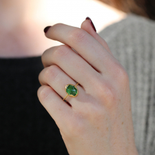 Tsavorite Garnet Egg Stacker Ring Image