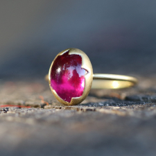 Rubelite Tourmaline Egg Stacker Ring Image