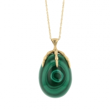 Malachite Long Egg Necklace Image