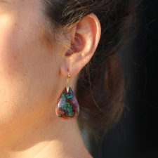 Fire Opal Matrix Earrings Image