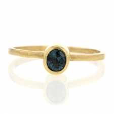 Blue Spinel Gold Ring Image