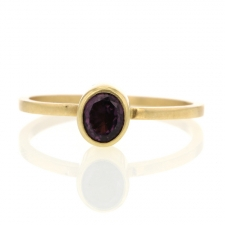 Dark Spinel Gold Ring Image