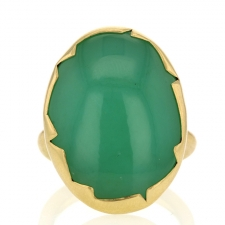 Chrysoprase Egg Ring Image