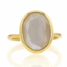 Burmese Rainbow Moonstone Ring Image