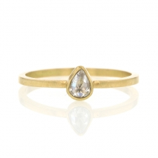 Diamond Pear Rose Cut Ring Image