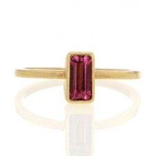 Small Pink Tourmaline Rectangular Ring Image