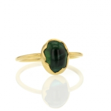 Green Tourmaline Egg Ring Image