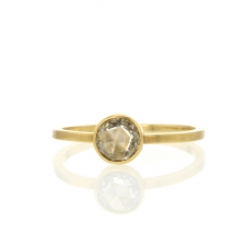 Round rose cut diamond ring