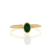 Small Emerald Gold Ring Image