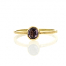 Rose Spinel Gold Ring Image