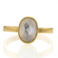 Gold Burmese Moonstone Ring Image