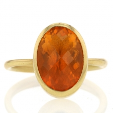 Oval Fire Opal Gold Ring Image