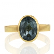 Blue Tourmaline 18k Gold Ring Image