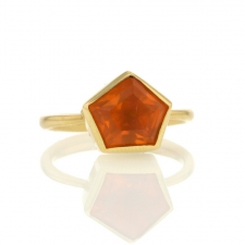 18k Fire Opal Ring Image
