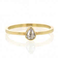 18k Yellow Gold Rose Cut Diamond Stack Ring Image