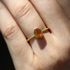 Gold Faceted Fire Opal Ring Image