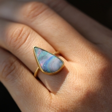 Boulder Opal 18k Yellow Gold Ring Image