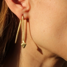 Long Gold Snake Earrings Image