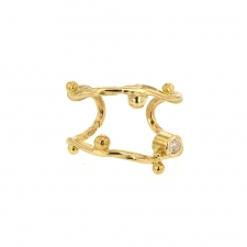 Gold Ear Cuff with Diamond Image