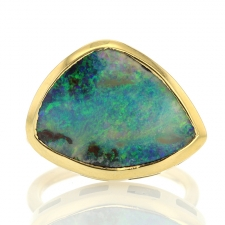 Ellipse Boulder Opal Ring Image