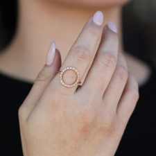18k Rose Gold Diamond Circle Infinity Ring Image