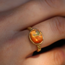 Fire Opal Twist Ring Image